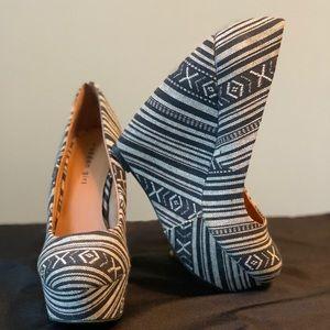 Madden Girl Craffty printed wedge heels